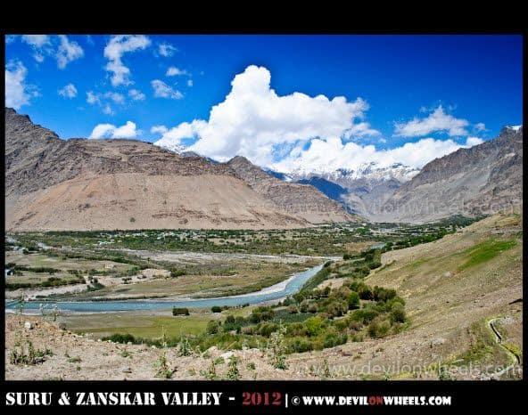 The High Views of Parkachik Village in Suru Valley