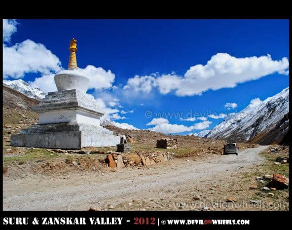A Lonely Stupa in Suru Valley