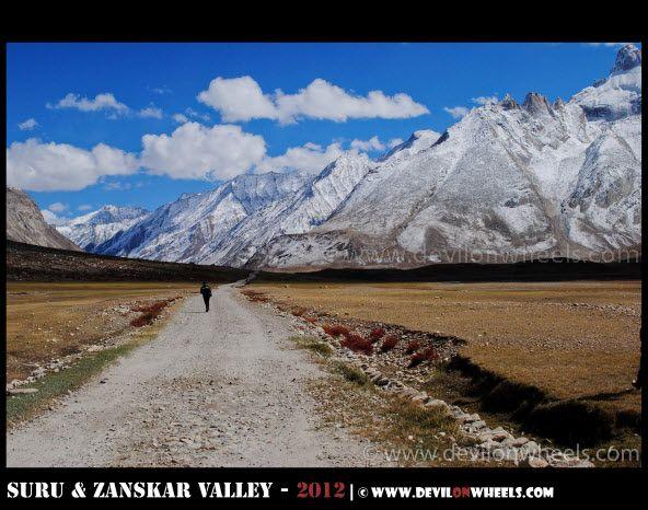 I Walk a Lonely Road... In Heaven, Towards Rangdum Village...