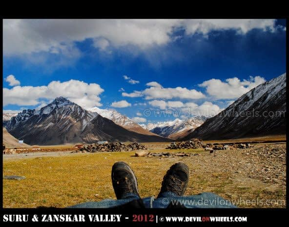 Forclaz 500 Ventiv Shoes getting tested in Zanskar Valley