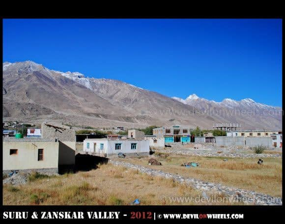 Views of Padum Village in Zanskar