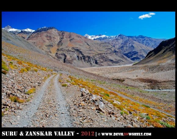 Leading its way to Zongkhul Monastery in Zanskar Valley