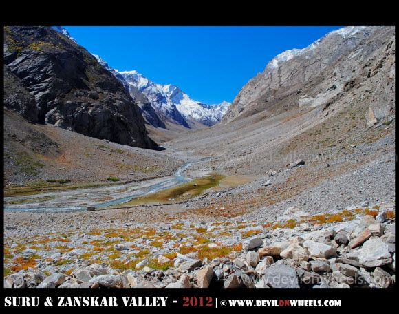Views from Zongkhul Monastery in Zanskar Valley