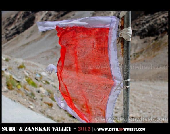 Prayer Flags at Zongkhul Monastery in Zanskar Valley