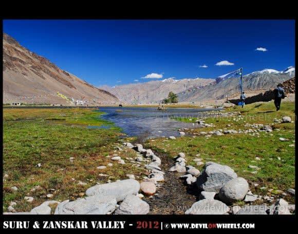 The Sacred Sani Lake in Zanskar Valley