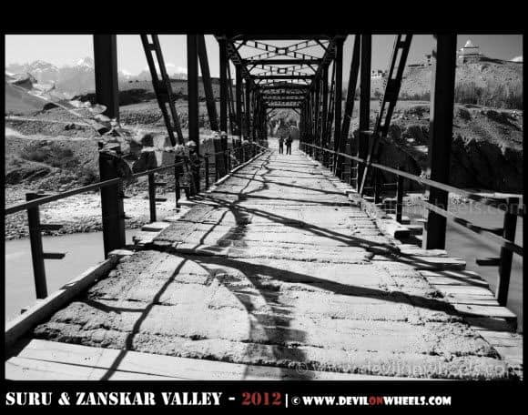 A Bridge at Padum Village in Zanskar Valley