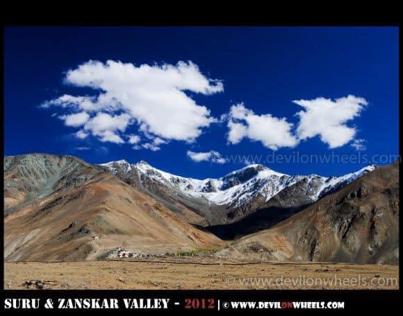 Views near Stongde Monastery in Zanskar Valley