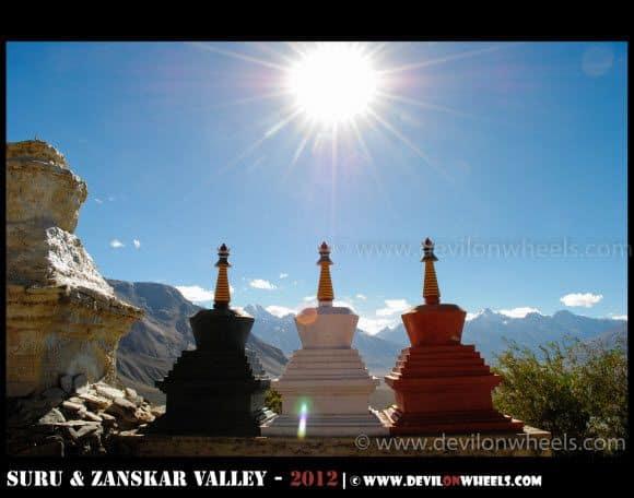 Rays from Heaven at Stongde Monastery in Zanskar Valley