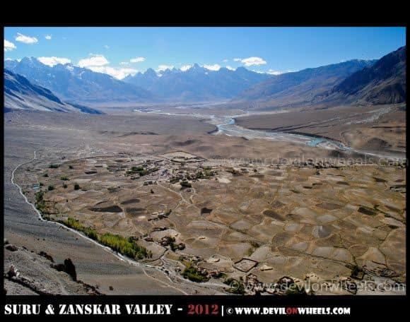 Aerial View of Stongde Village in Zanskar