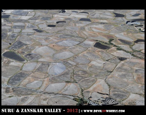 Aerial View of Stongde Village in Zanskar