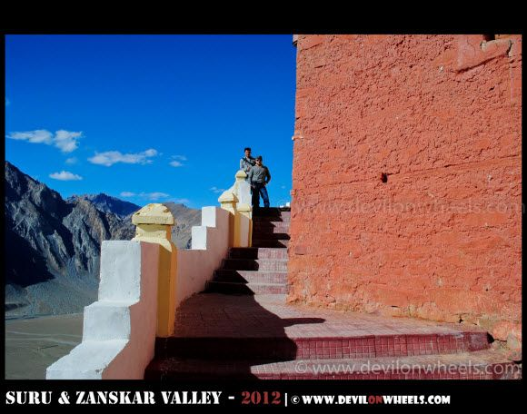 Stongde Monastery in Zanskar Valley