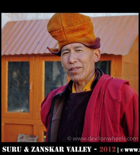 The Monk at Stongde Monastery in Zanskar Valley