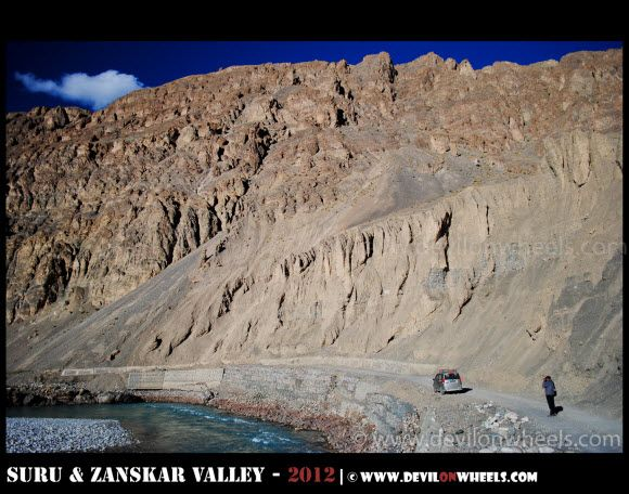Views on the Way to Zangla Fort in Zanskar Valley