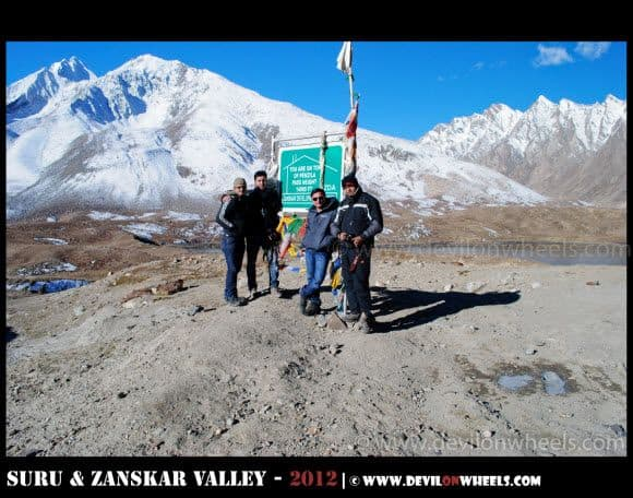 Dheeraj Sharma at Penzi La Pass... The Highest Point at Kargil Padum Road