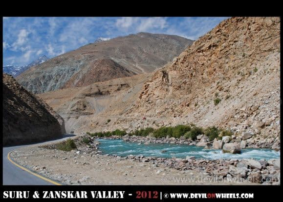 Suru River near between Drass and Kargil