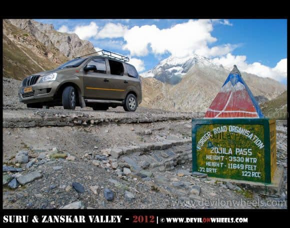 Zoji La Pass on Srinagar - Leh Highway