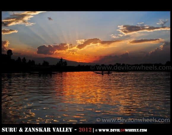 A Golden Sunset over Dal Lake