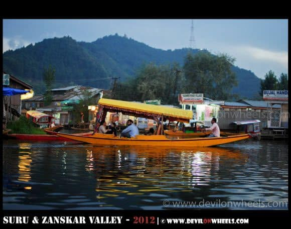 A Shikara Ride at Dal Lake