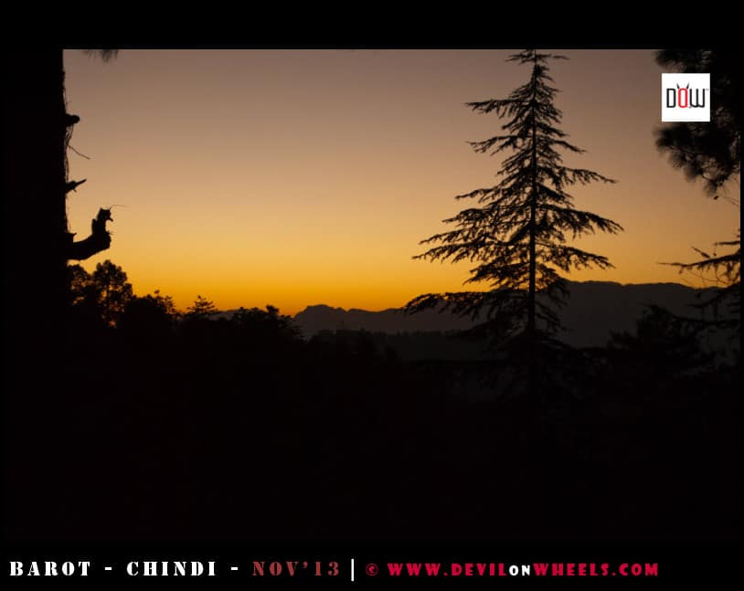 A Golden Sunset at Chindi, Himachal