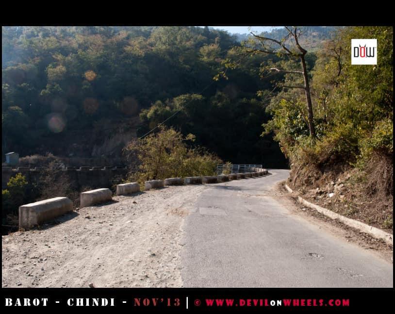 Roads to Naldhera from Tattapani