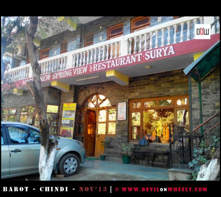 Restaurant we had tea at Tattapani