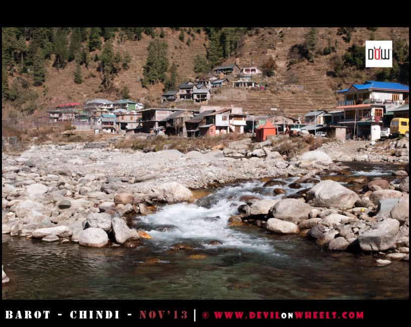 The Uhl River at Barot Village, Himachal