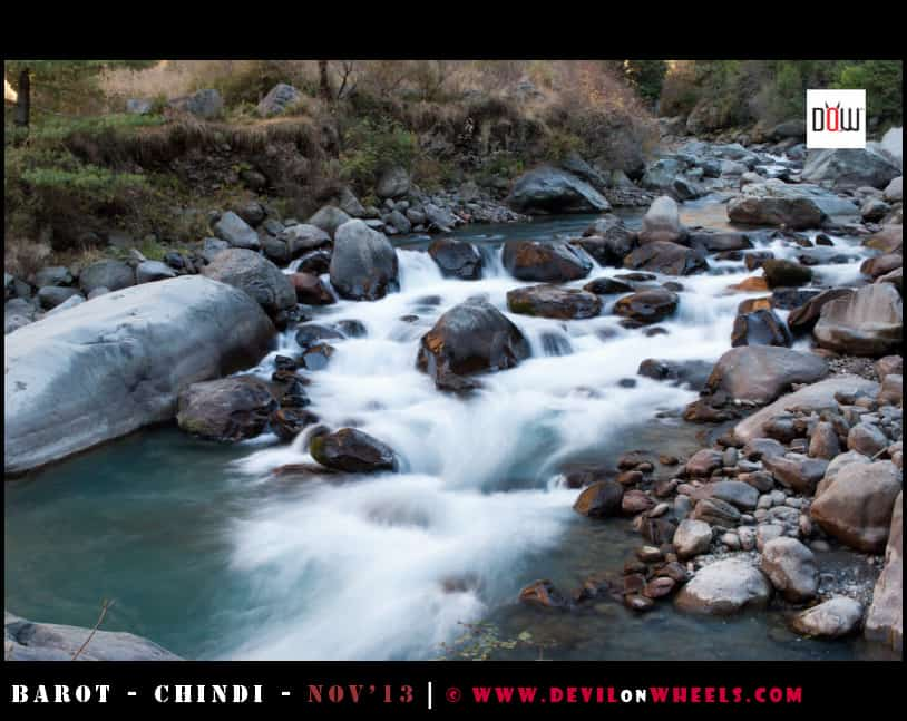 Silky Waters of Uhl River near Barot Village, Himachal