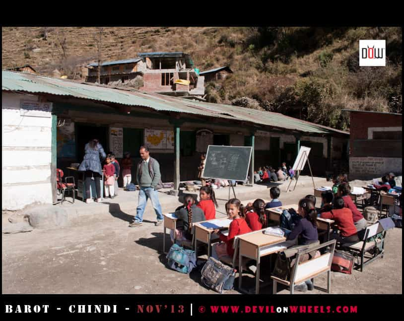 DoW Causes at a Priamry School in Luhardi Village, Himachal