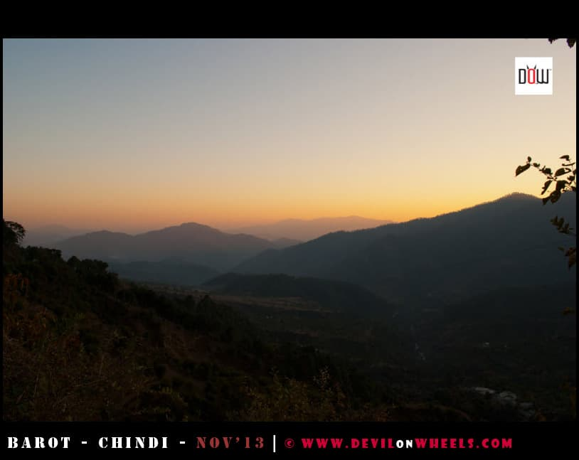 Dusk Lights & Colors about to fall on the way to Barot