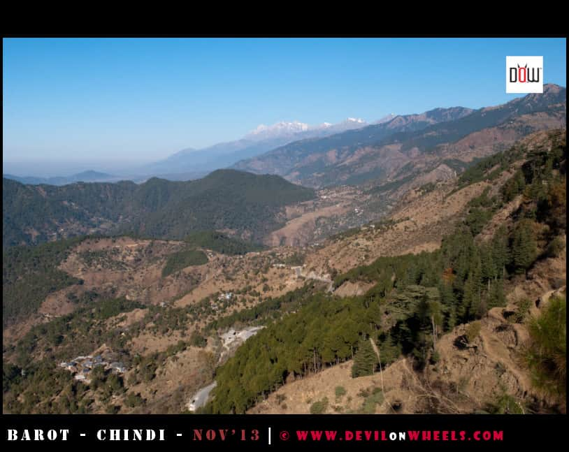 Snow Kissed Peaks as seen near Ghatasani, Himachal