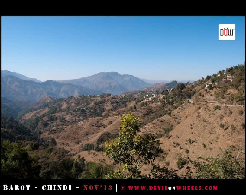 The views as seen on the way to Chindi, Himachal