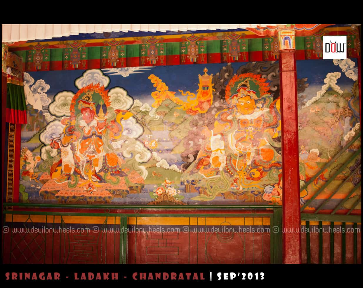 Paintings at Lamayuru Monastery