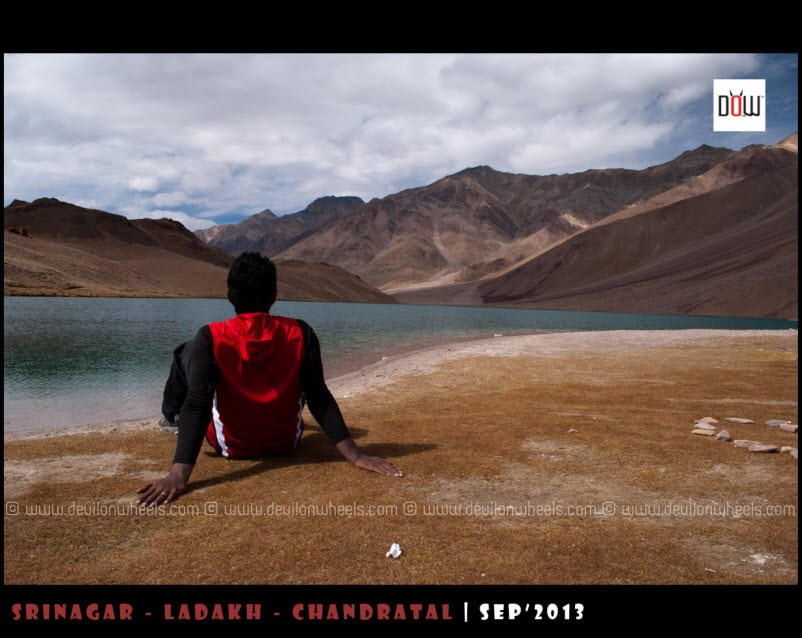 That's Nabeel at Chandratal Lake