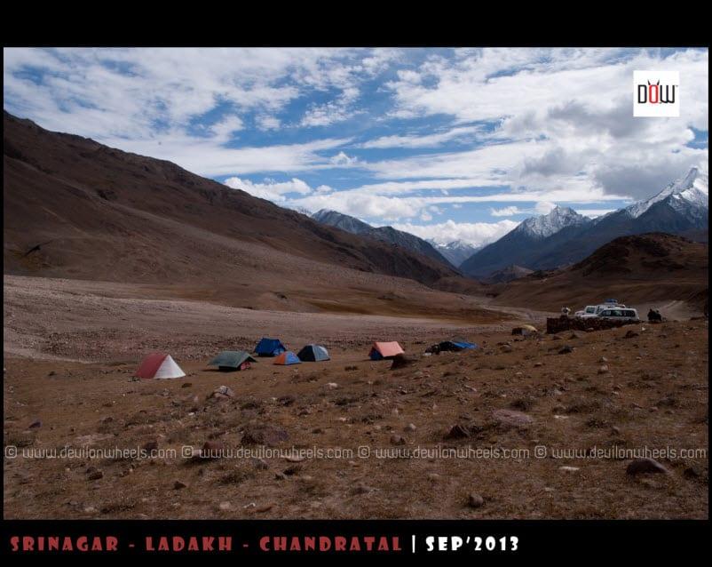 Camping Site at Chandratal Lake