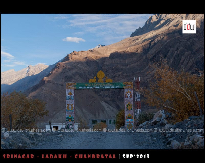 Most Welcome to Spiti Valley