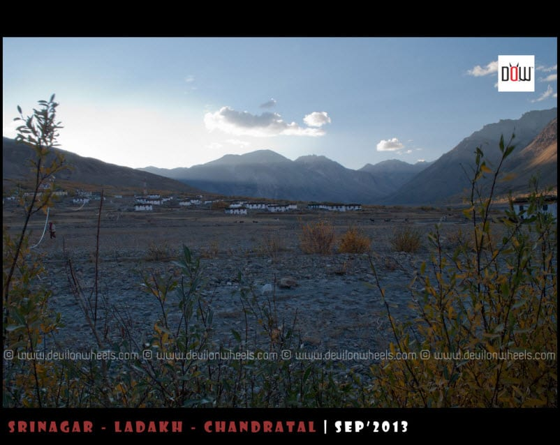 The Last Rays of Sun at Losar Village