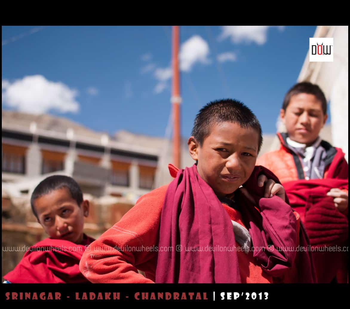 Lama Kids at Lamayuru Monastery