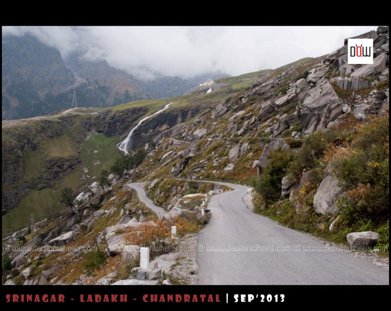 The Road to Manali from Rohtang Pass