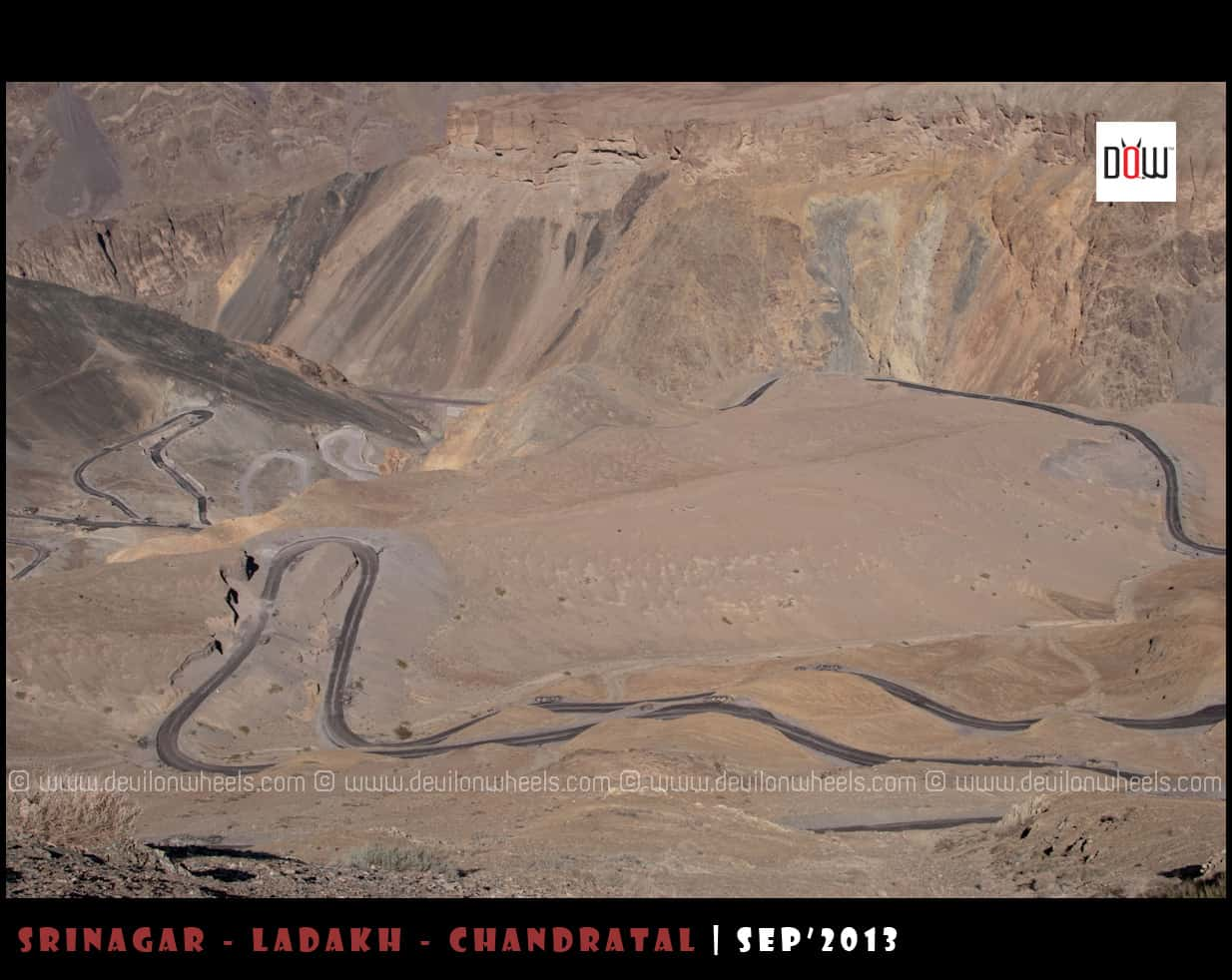 Hangroo Loops at Srinagar - Leh Highway