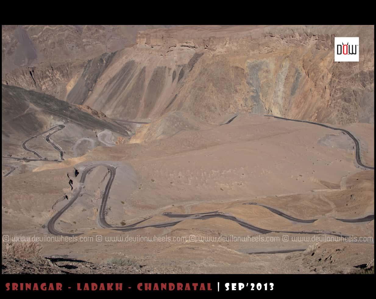 Hangroo Loops at Srinagar - Leh Highway