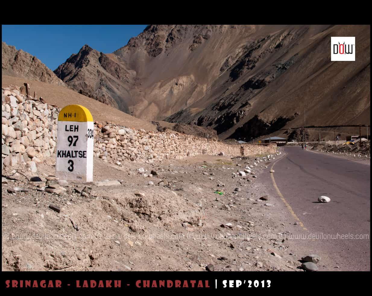 Khaltsi at Srinagar - Leh Highway