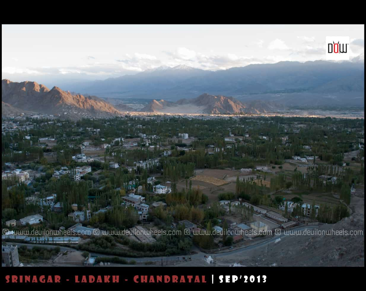 An Aerial View of Leh Town