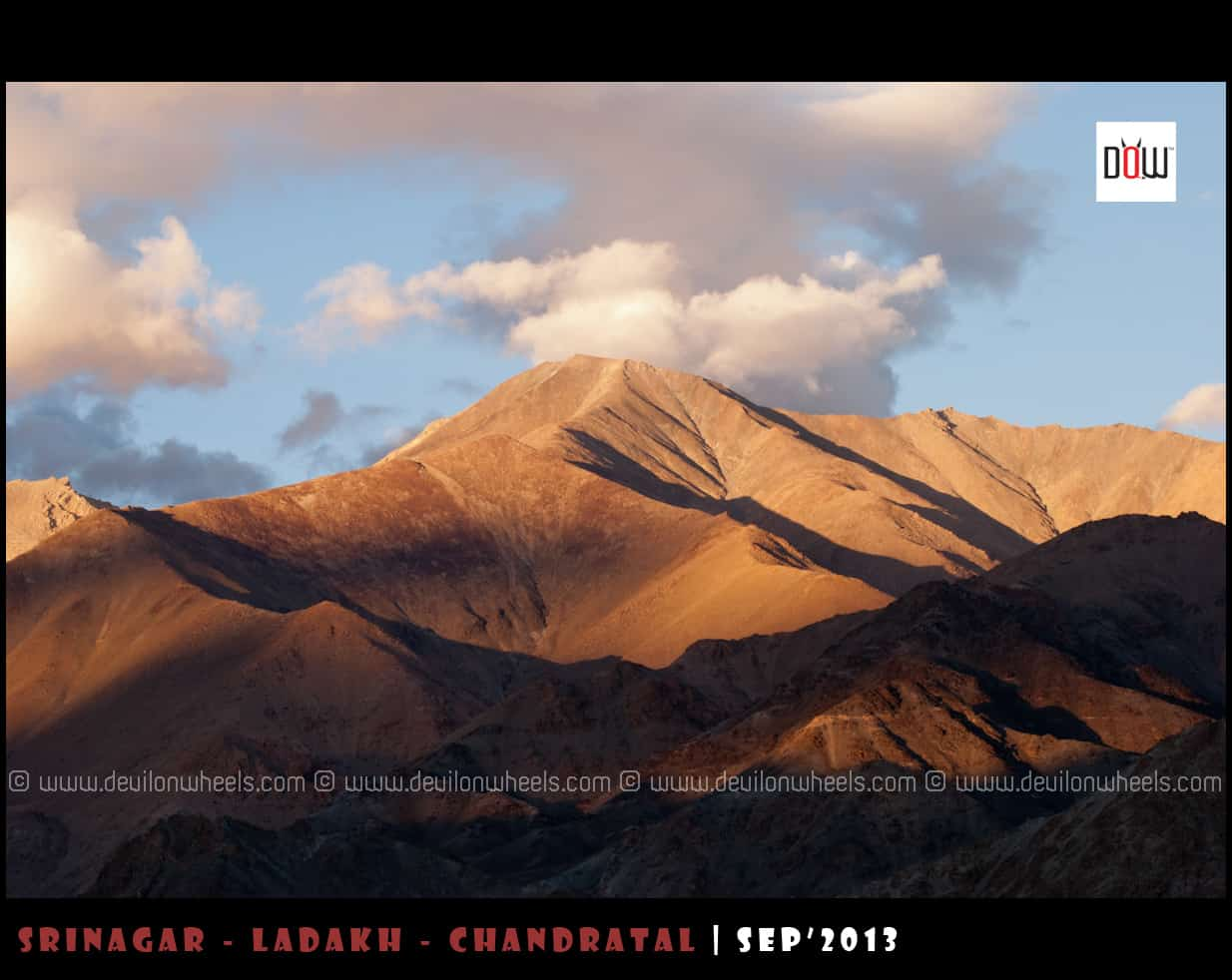 Towards Khardung La Range... Lights and Shadows Playing at Dusk