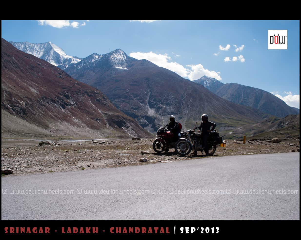 The Two Bikers of our group on Srinagar - Leh Highway