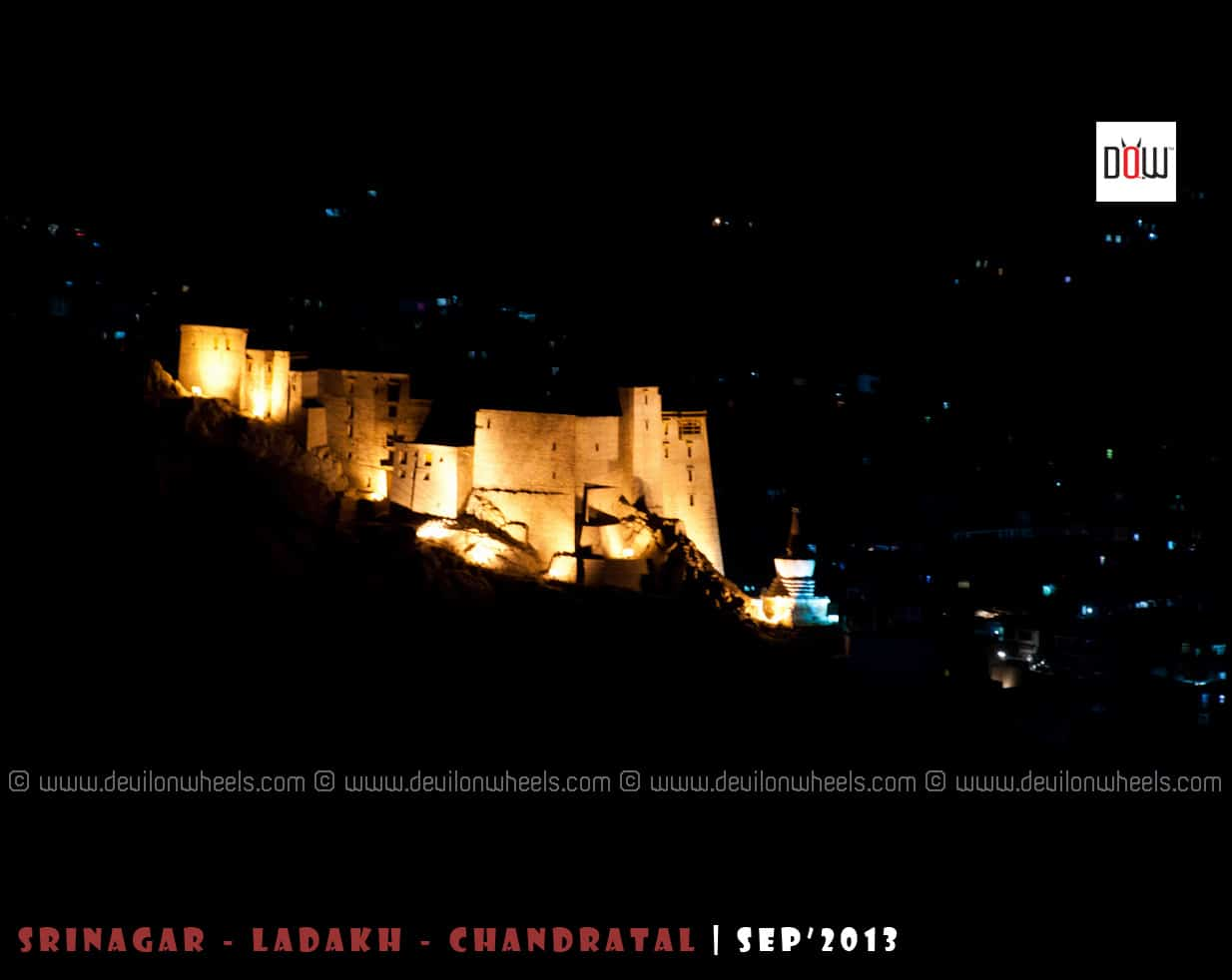 Leh Palace - Glowing in Night