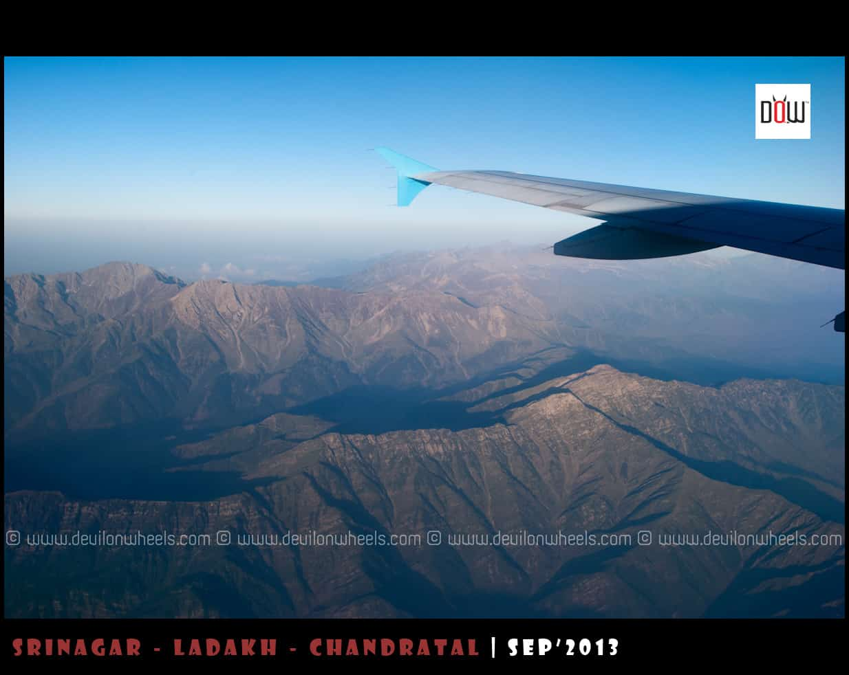 First Aerial Views Himalayas towards Srinagar