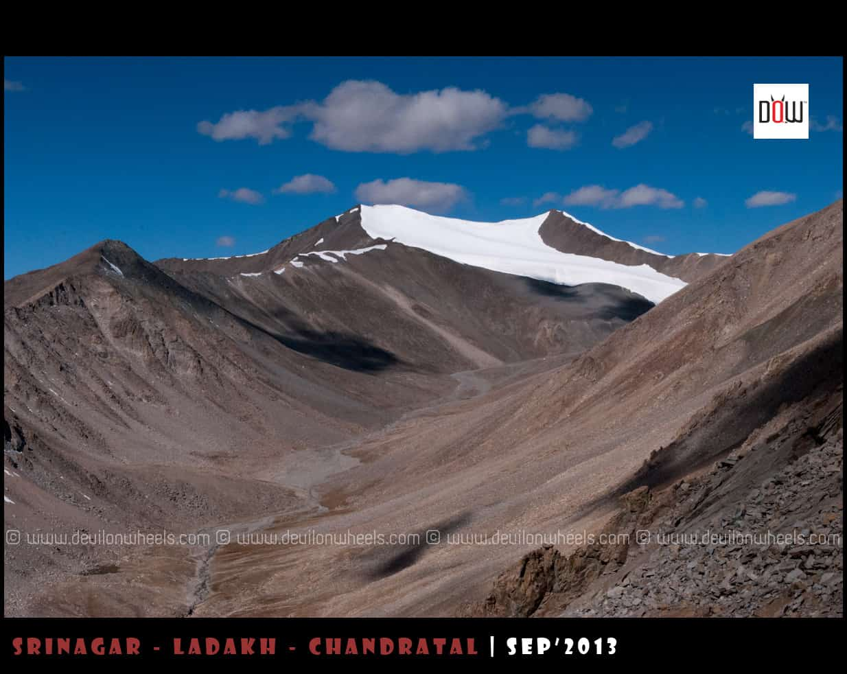 Khardung La Top, very  little snow in September