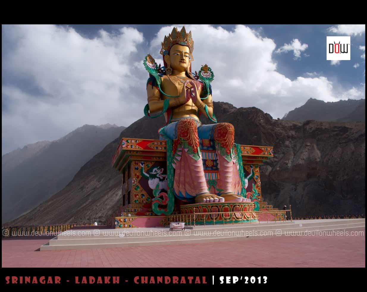106 Feet Tall Buddha Statue at Diskit Monastery