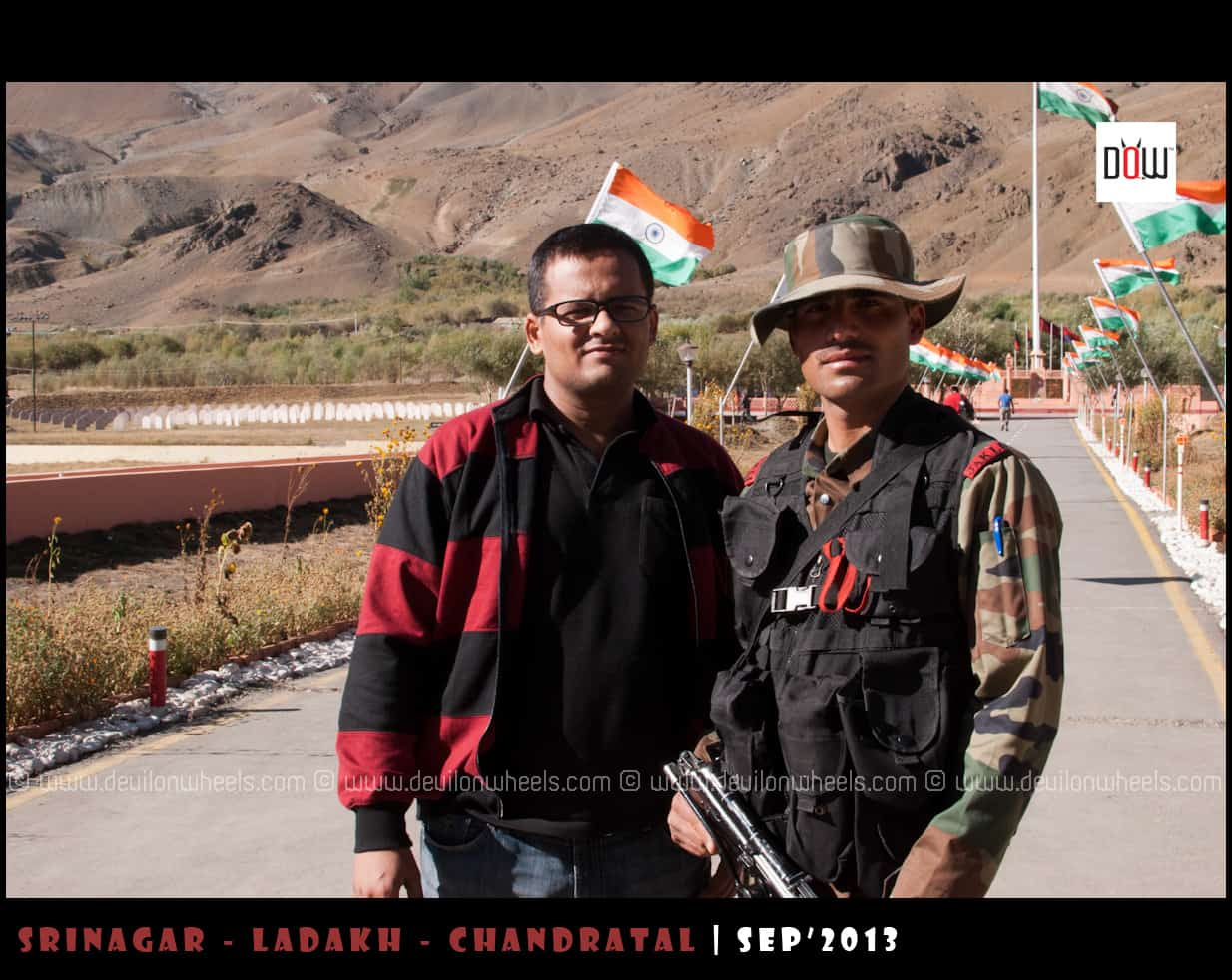 Jawan at Kargil War Memorial