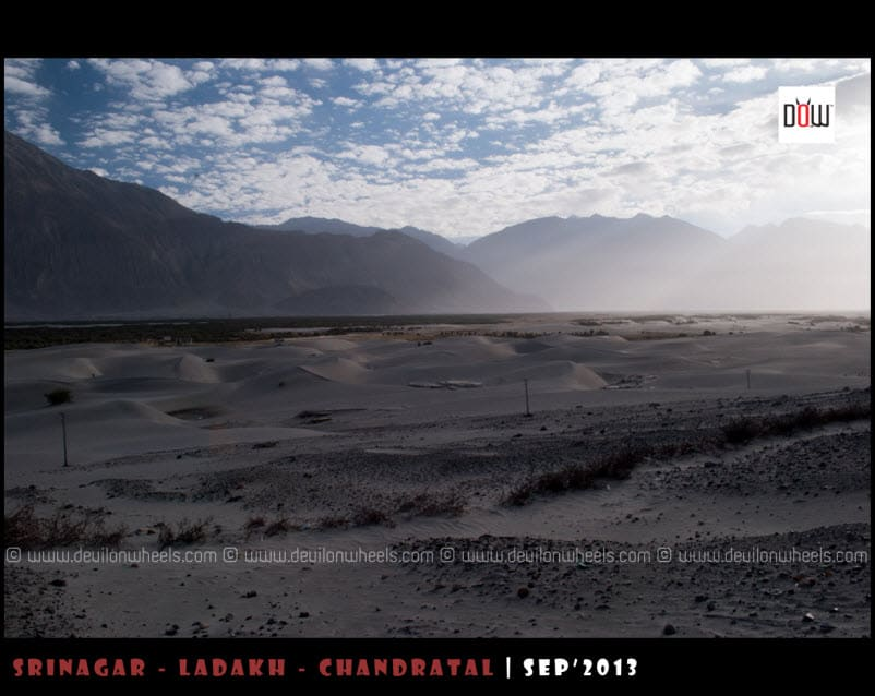Early Morning at Hunder Sand Dunes, Nubra Valley